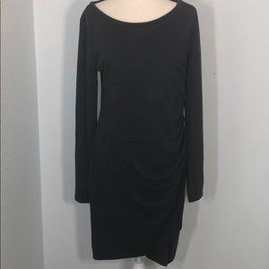 Leith Dark Gray Side Ruching Body-Con Dress NWT